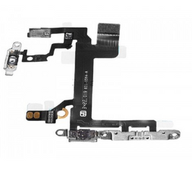 For Apple iPhone 5s Power Button Flex Cable with Metal Bracket