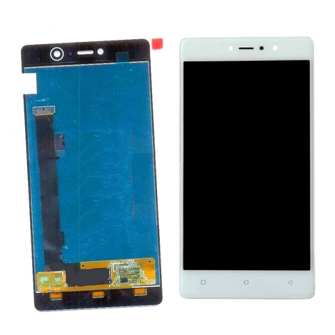 LCD with Touch Screen for Gionee S6s - White (display glass combo folder)