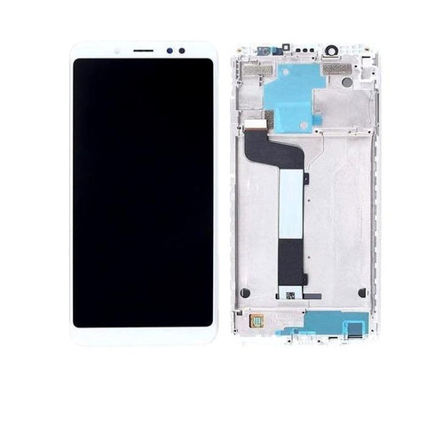 LCD with Touch Screen for Xiaomi Redmi Note 5 Pro - White (display glass combo folder)