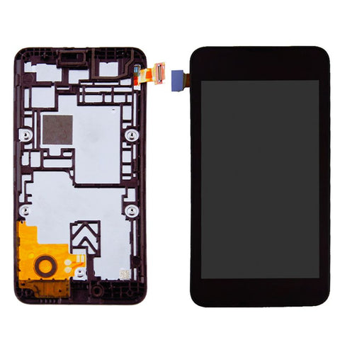 LCD with Touch Screen for Nokia Lumia 530 Dual SIM - Grey