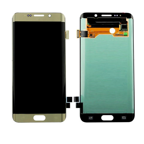 LCD with Touch Screen for Samsung Galaxy S6 Edge - Gold (display glass combo folder)