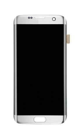 LCD with Touch Screen for Samsung Galaxy S7 edge - CDMA - Silver (display glass combo folder)