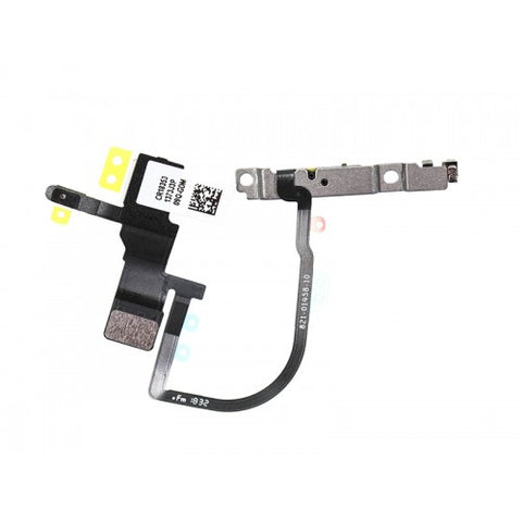 For Apple iPhone XS MAX Power Button Flex Cable With Metal Bracket