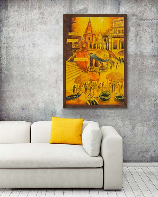 Indian Painting by Anirban Seth | HD Art Print on Canvas ...