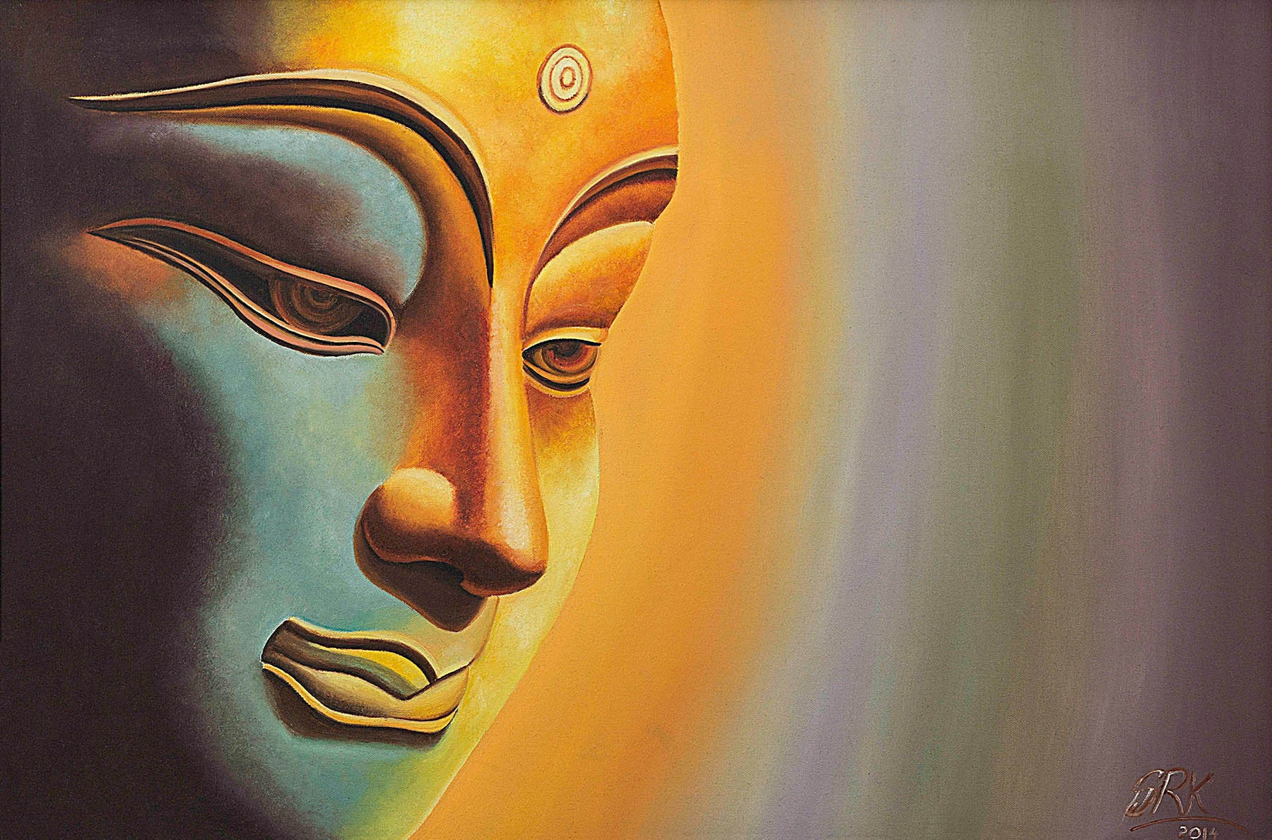 Indian Painting By Shilpa Rao Hd Art Print On Canvas