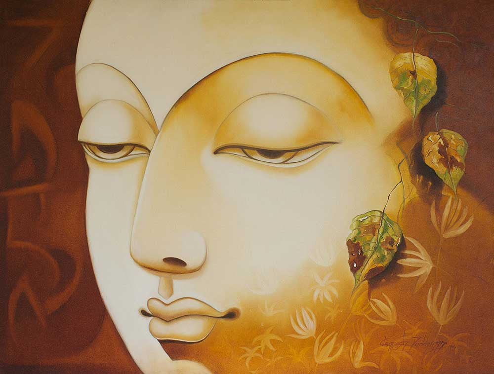 indian painting by ganesh doddamani hd art print on canvas
