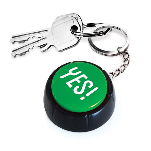 The YES! Button Keyring