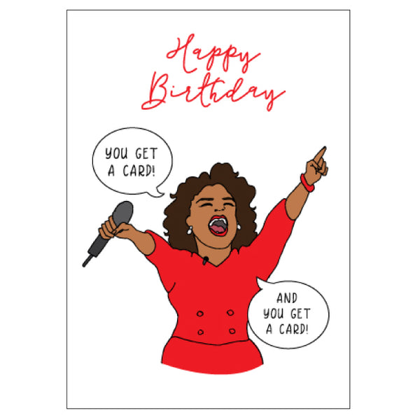 Oprah Birthday Card