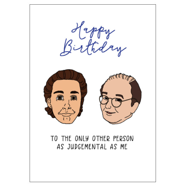 Seinfeld and George Birthday Card