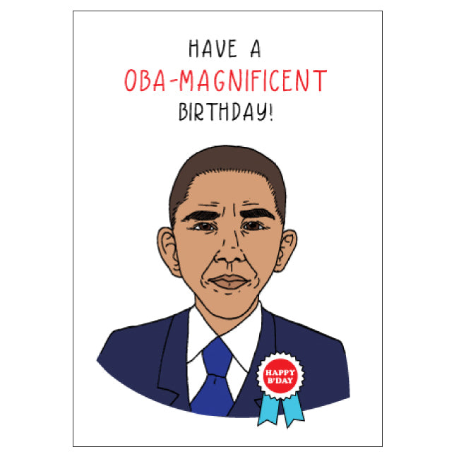 Obama Birthday Card