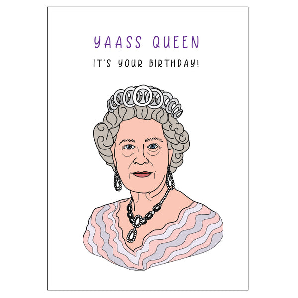 Queen Elizabeth Birthday Card