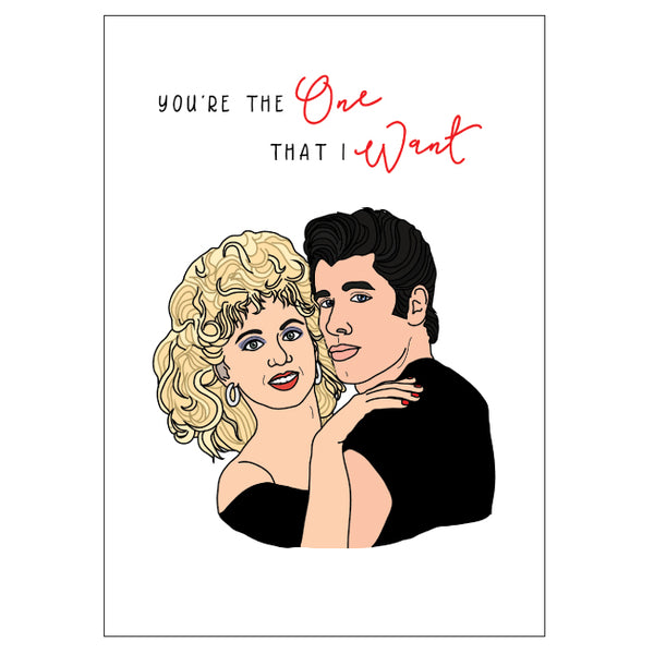 Grease Love Card