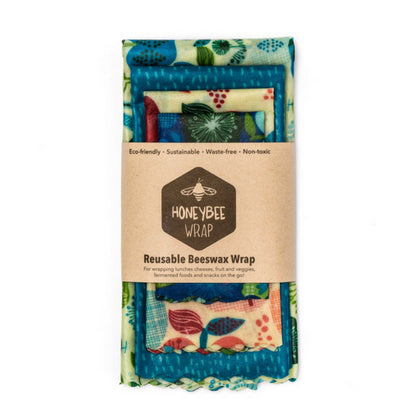 Reusable Beeswax Wrap - 4 Pack