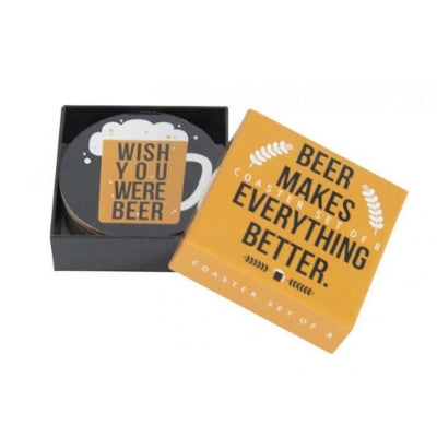 8 Corked Back Beer Coasters
