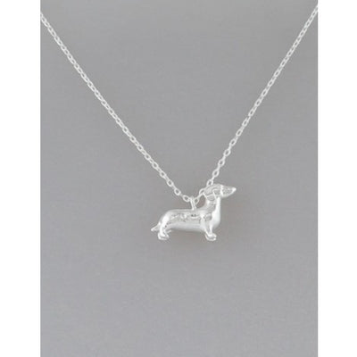 Silver Dachshund Necklace