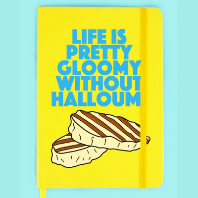Grey Lines - Life is pretty gloomy without Hallomi Notebook - Yellow