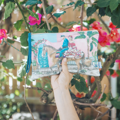 Cotton Clutch Purse Frida's Paradise vol. 2