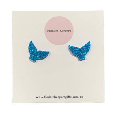Whale Tail Earring Studs