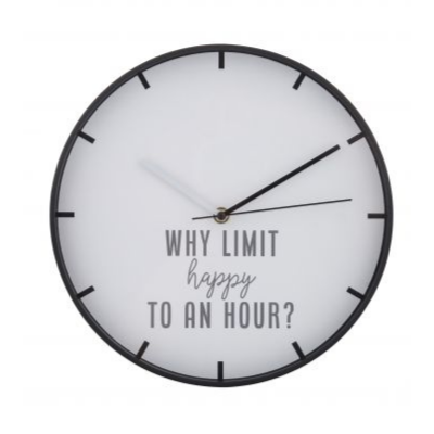 Why Limit Happy to an Hour? Happy Hour Wall Clock