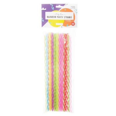 Party Time Rainbow Party Straws