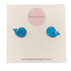 Mini Whale Earrings