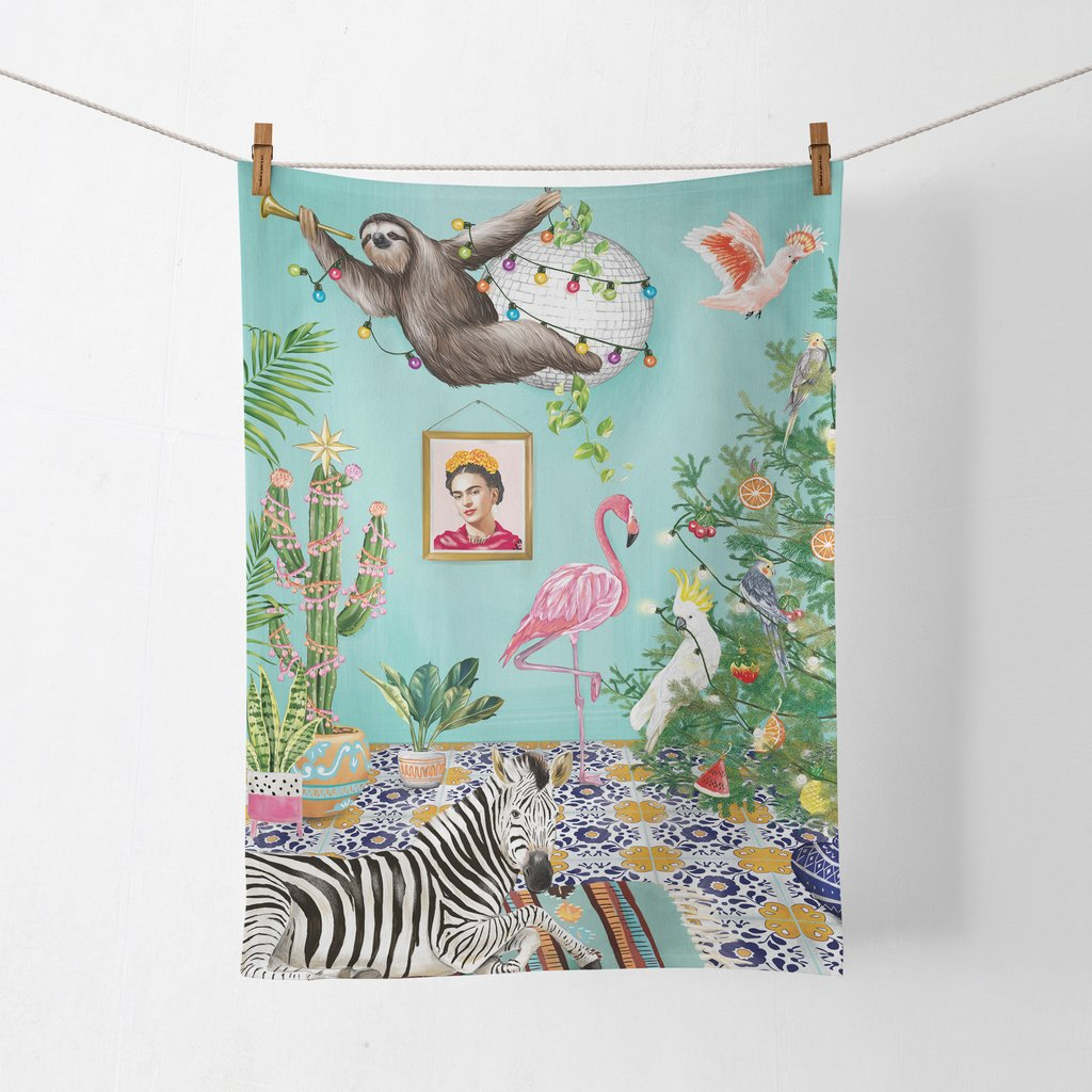 La La Land Tea Towel Tropical Abode