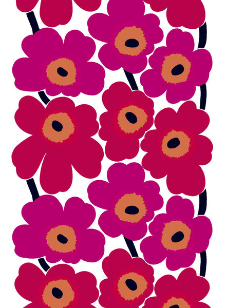 Marimekko 100% Cotton Fabric - Unikko Pink / Red