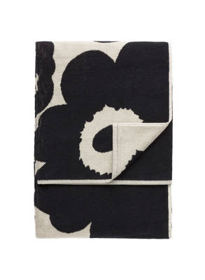 Marimekko Unikko Towel Collection - Black/Sand