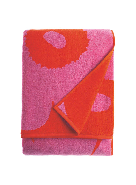 Marimekko Unikko Towel Collection - Red / Pink