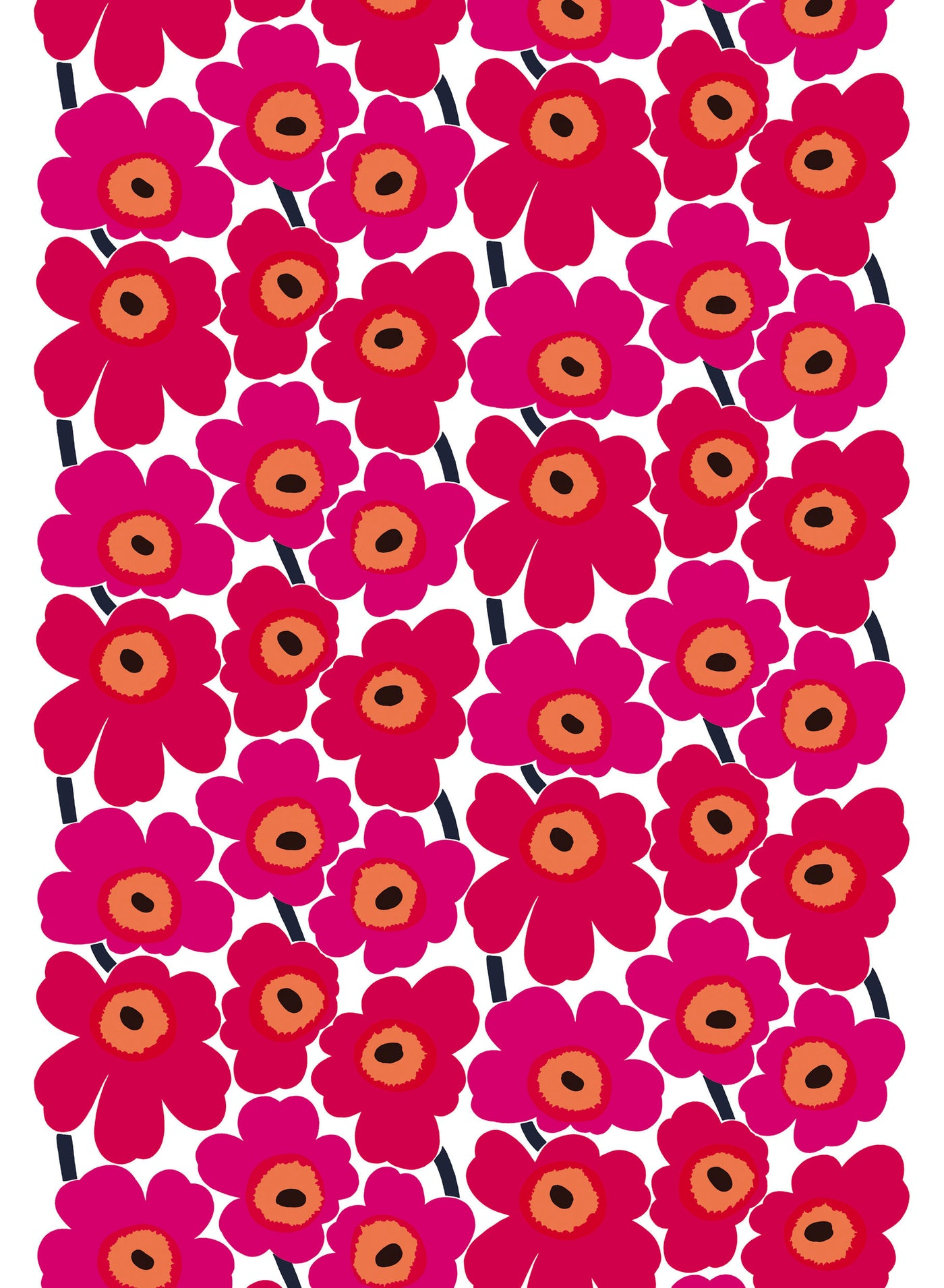 Marimekko Pieni Unikko Coated Cotton Fabric