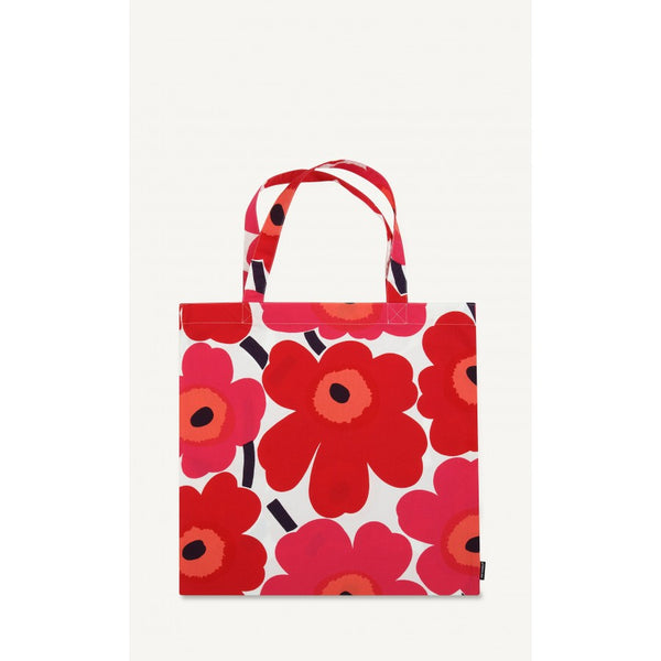 Marimekko Unikko 100% Cotton Tote Bag - Red, White