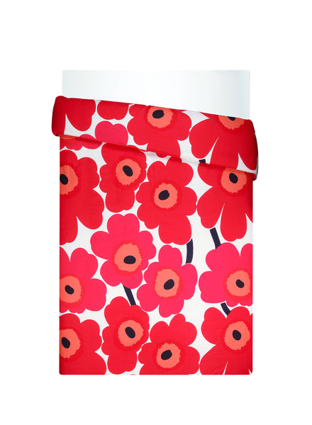 Marimekko Unikko Bedding Collection - Red / White