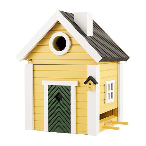 Yellow Cottage Bird House