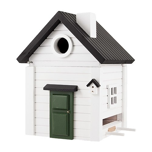 White Cottage Bird House
