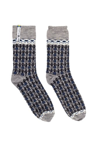 Copy of Öjbro Vantfabrik Kören (Choir) Merino Wool Socks Blue