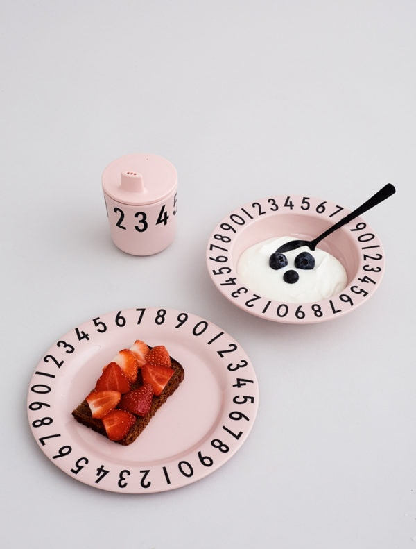 Design Letters - Melamine Tableware Set - Pink