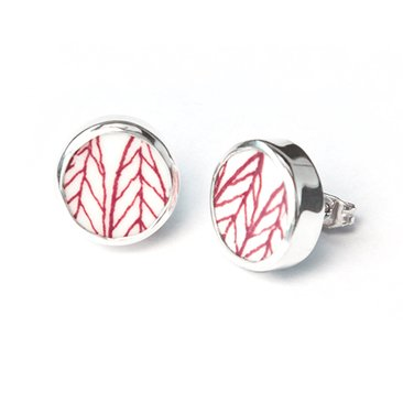 Sägen Sweden Salix Earrings - Red