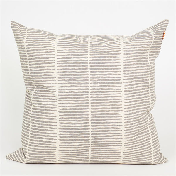 Afro Art Lemongrass Cushion Cover 50 x 50cm - Grey