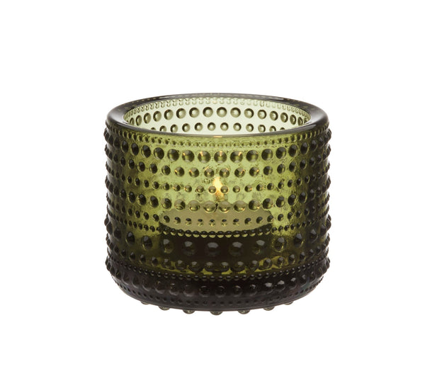 Iittala Kasthelmi Tealight Holder (Moss Green)