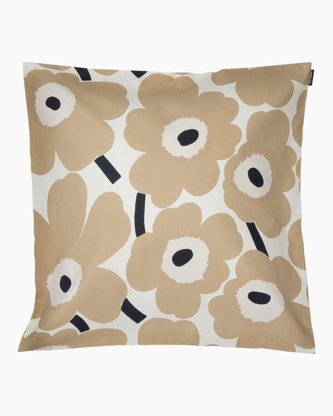 Marimekko Unikko Cushion Cover - Off White, Beige, Dark Blue