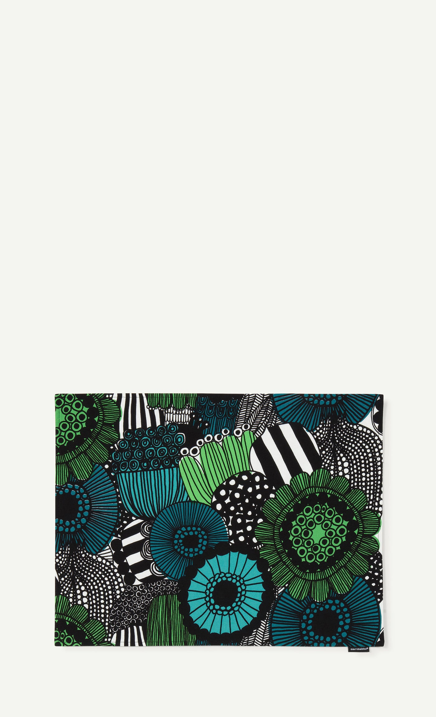 Marimekko Siirtolapuutarha Acrylic Coated Placemat Green, White, Black