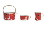 Unikko Teapot Red