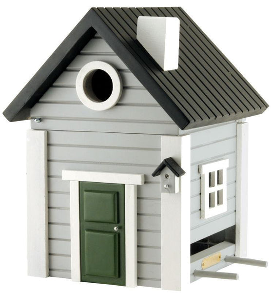 Grey Cottage Bird House