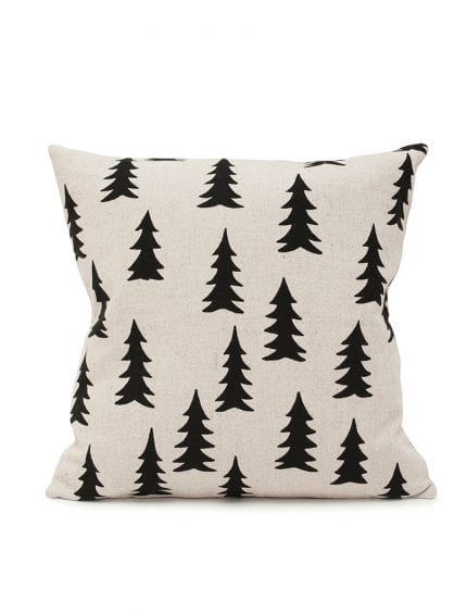 Fine Little Day - Gran Black Printed Cushion Cover