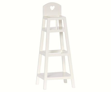 Maileg - High Chair, Off White (For My, Bunny)