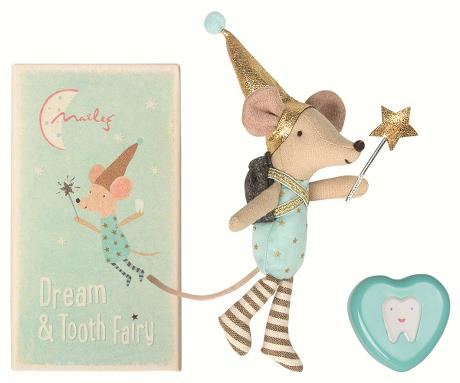 Maileg Tooth Fairy - Big Brother Mouse with Metal Box