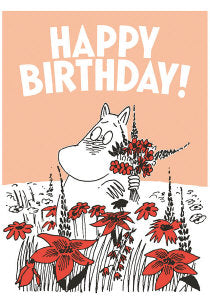 Putinki Press Blank Letterpress Card - Moomin - Happy Birthday