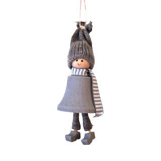 Christmas - Santa Fride Hanging Decoration - Grey