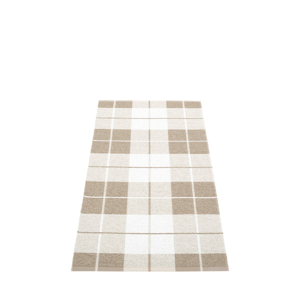 Pappelina Ed Rug Dark Linen/Fossil Grey /White 70 x 140cm