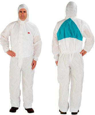 3M 4520 5/6 Coverall White/Green Pack of 20